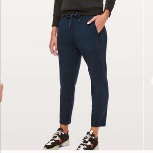 Lululemon City Sleek Navy High Rise Sweatpants 4